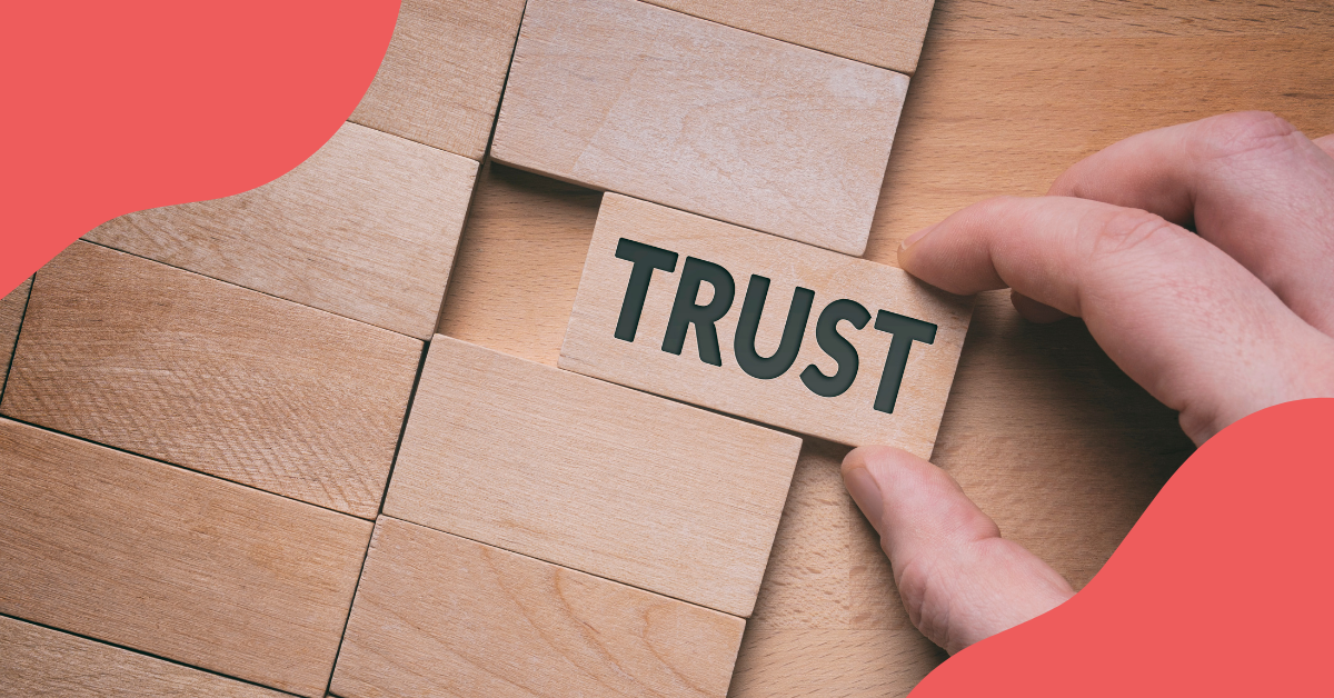 Filling puzzle with trust piece