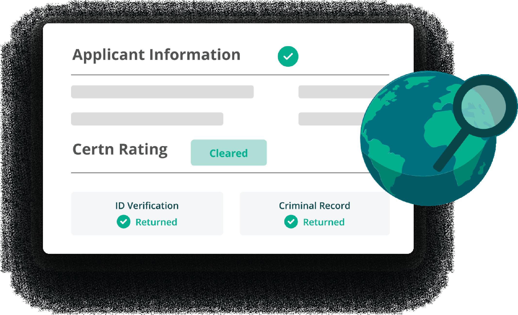 Applicant Information Certn Rating
