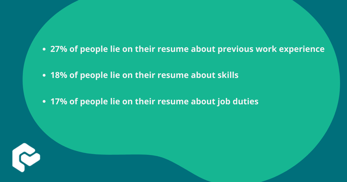 Three common lies on a resume listed